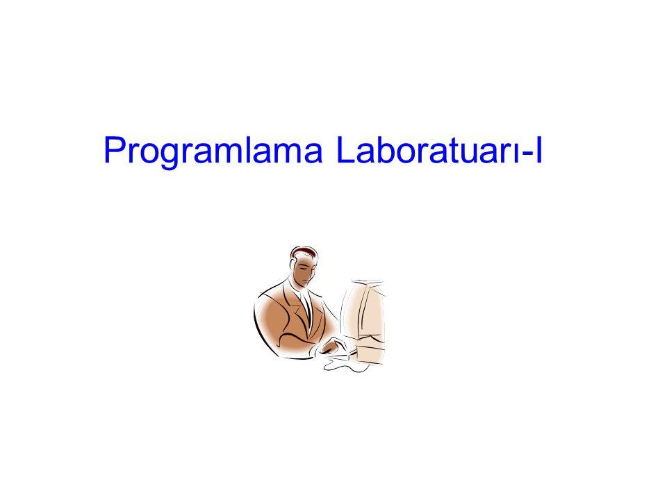 Programlama Laboratuarı-I