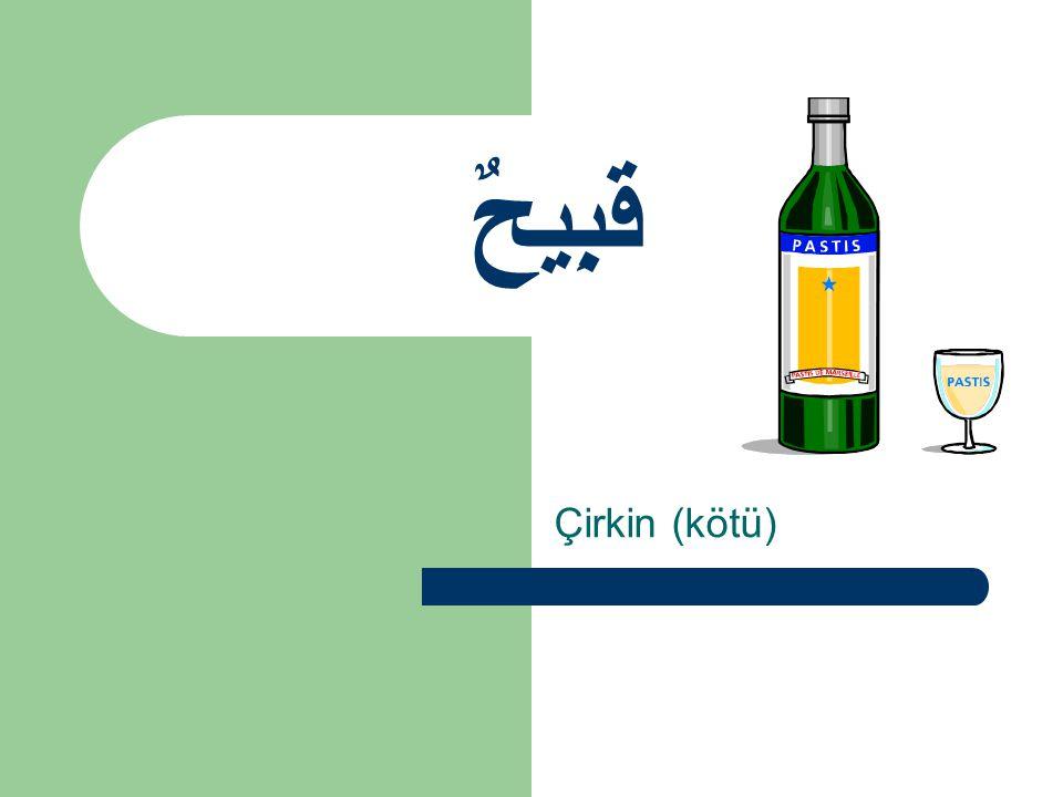 قَبِيحٌ Çirkin (kötü)
