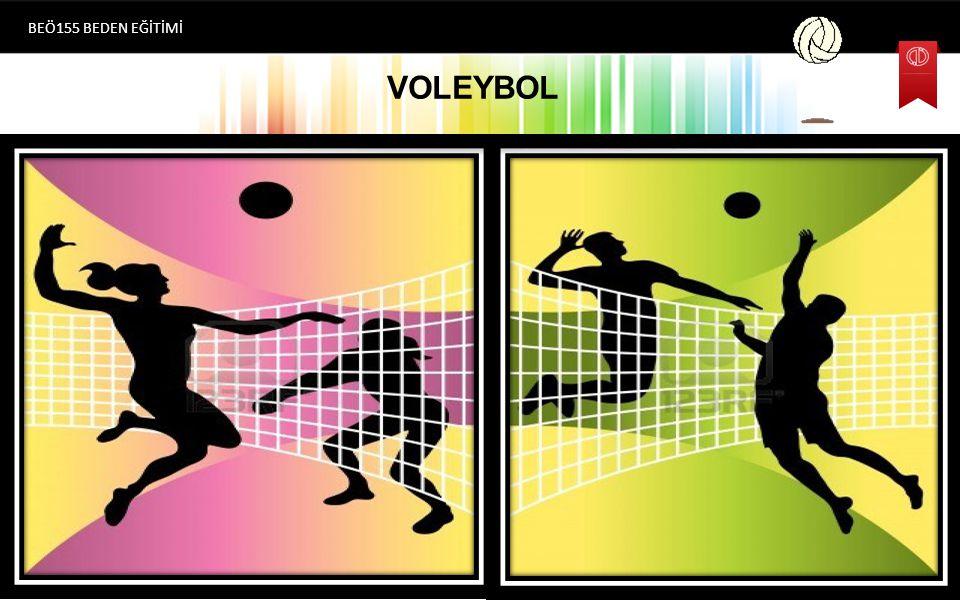 VOLEYBOL OYUN KURALLARI Libero Oyuncusu BEÖ155 BEDEN EĞİTİMİ  Her takımın 12 oyunculu listesinden bir özel defans oyuncusu Libero belirleme hakkı vardır.