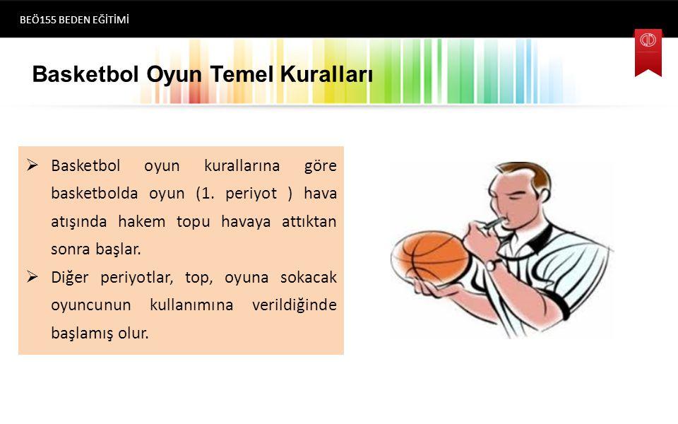 Basketbol Oyun Temel Kuralları  Basketbol oyun kurallarına göre basketbolda oyun (1.