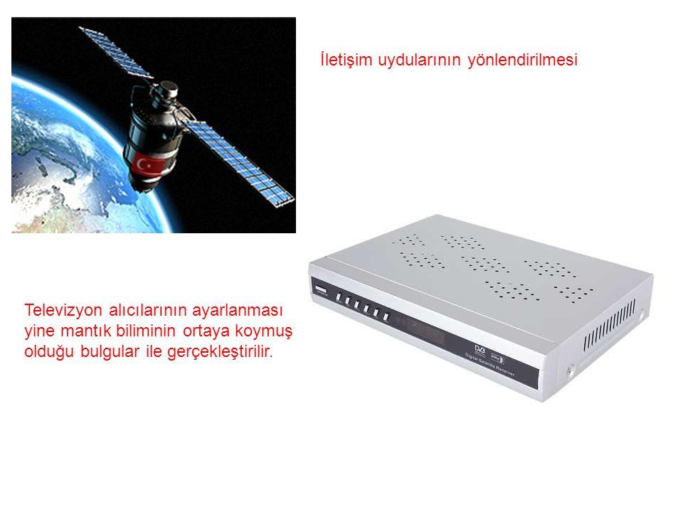 İletişim uydularının yönlendirilmesi Televizyon alıcılarının ayarlanması yine mantık biliminin ortaya koymuş olduğu bulgular ile gerçekleştirilir.