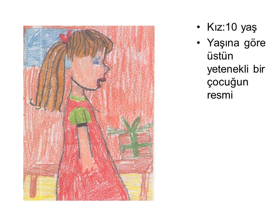 Kız:10 yaş Yaşına göre üstün yetenekli bir çocuğun resmi
