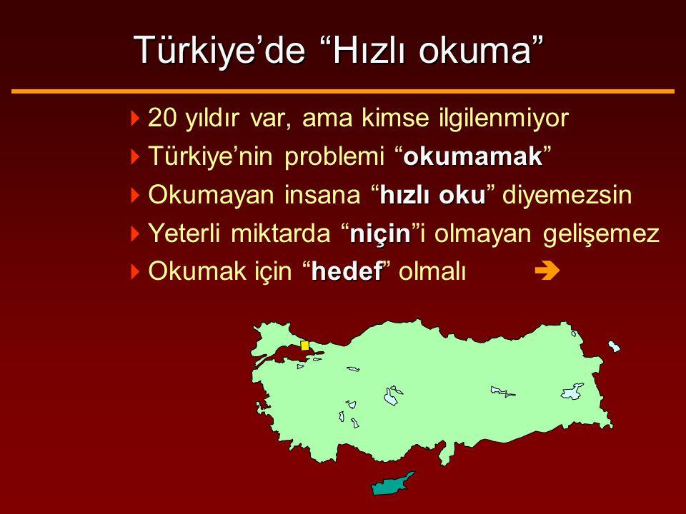 Türkiye'de Hızlı okuma  20 yıldır var, ama kimse ilgilenmiyor okumamak  Türkiye'nin problemi okumamak hızlı oku  Okumayan insana hızlı oku diyemezsin niçin  Yeterli miktarda niçin i olmayan gelişemez hedef  Okumak için hedef olmalı 