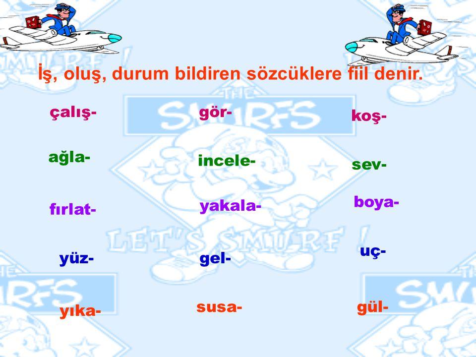 FİİLLER KELİME TÜRLERİ