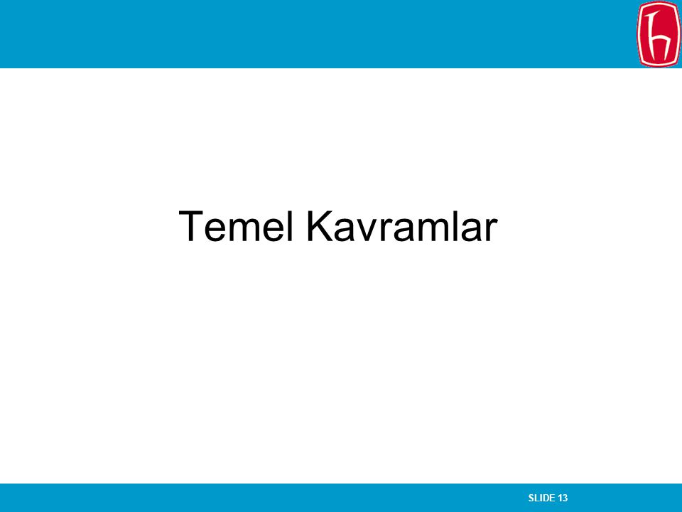 SLIDE 13 Chapter 14 Quantitative Data Analysis Temel Kavramlar