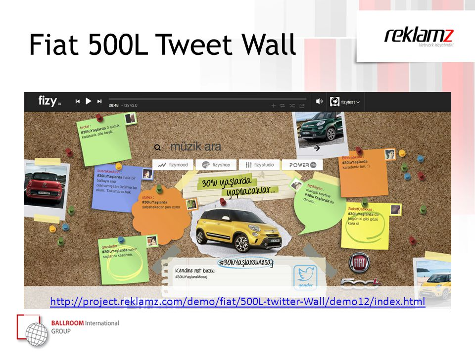 Fiat 500L Tweet Wall http://project.reklamz.com/demo/fiat/500L-twitter-Wall/demo12/index.html