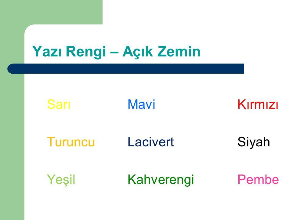 Yazı - 2 Süslü veya Komik yazı tiplerinden kaçının Bu cümlede yukarıda olduğu gibi 24 puntoluk karakterler kullanılmıştır ancak yazı tipi birbirine çok yakın harfler içerdiği için bu cümlenin okunması daha zordur.