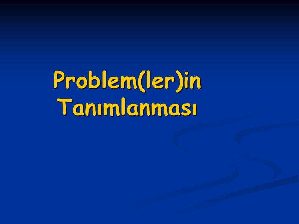 Problem(ler)in Tanımlanması