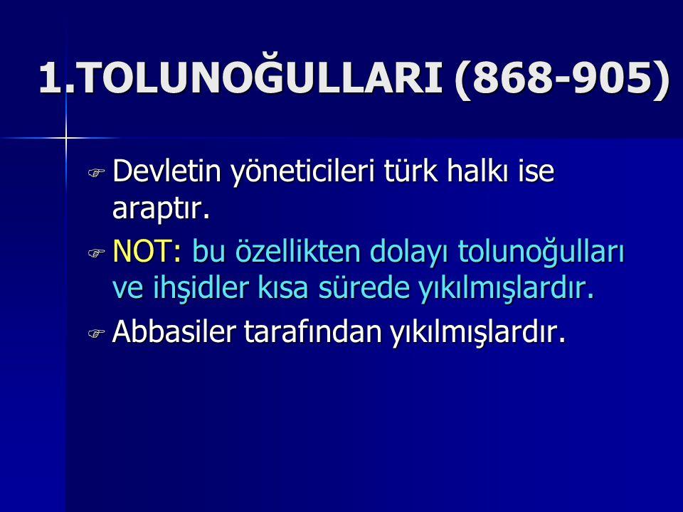  Devletin yöneticileri türk halkı ise araptır.
