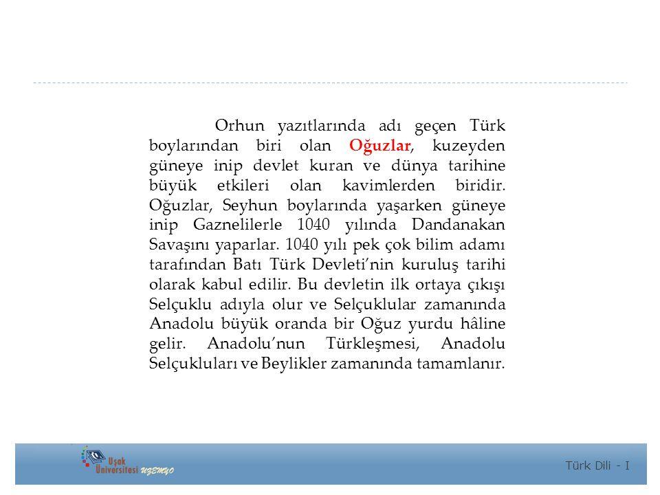 Orhun yazıtlarında adı geçen Türk boylarından biri olan Oğuzlar, kuzeyden güneye inip devlet kuran ve dünya tarihine büyük etkileri olan kavimlerden biridir.
