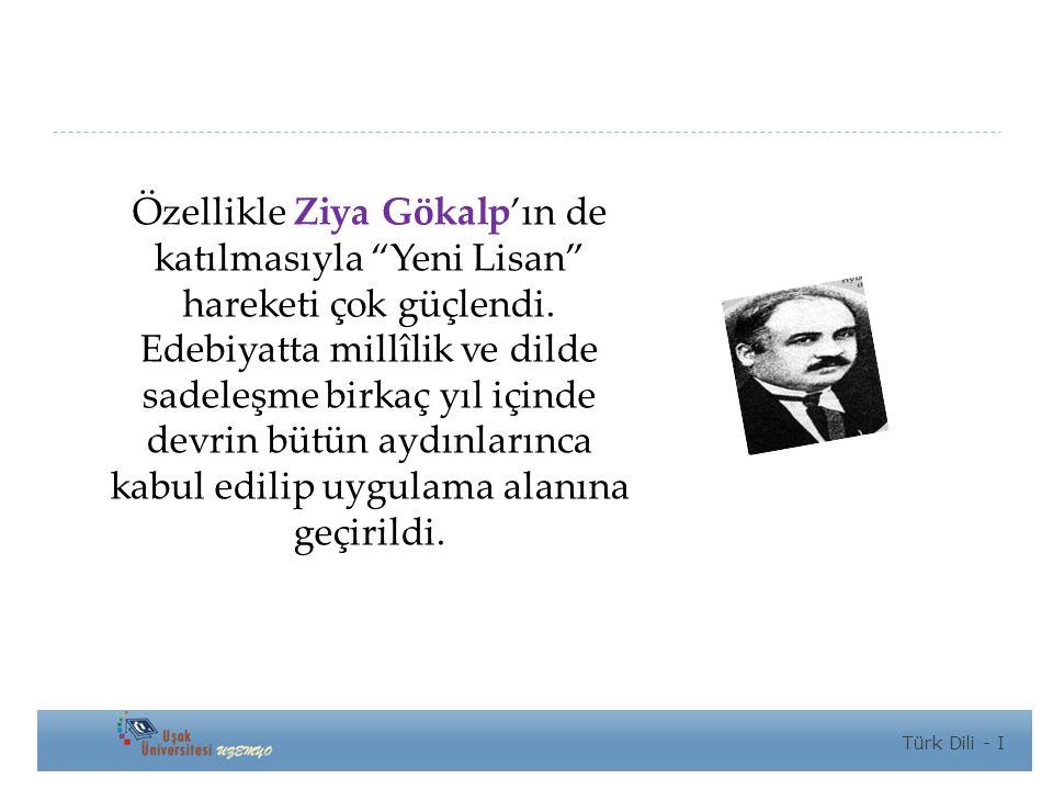 Özellikle Ziya Gökalp'ın de katılmasıyla Yeni Lisan hareketi çok güçlendi.