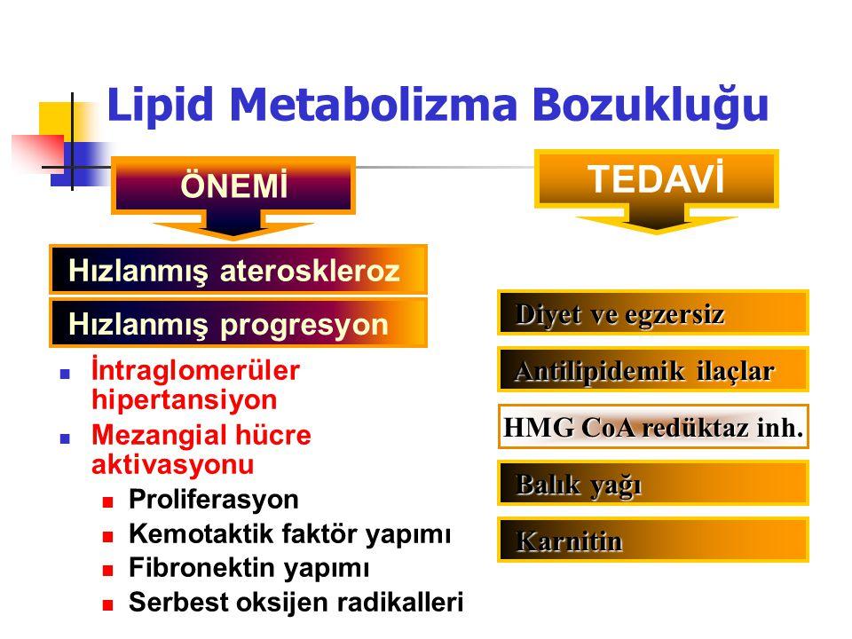 ÖNEMİ Hızlanmış ateroskleroz Hızlanmış progresyon TEDAVİ Diyet ve egzersiz Diyet ve egzersiz Antilipidemik ilaçlar Antilipidemik ilaçlar Balık yağı Ba