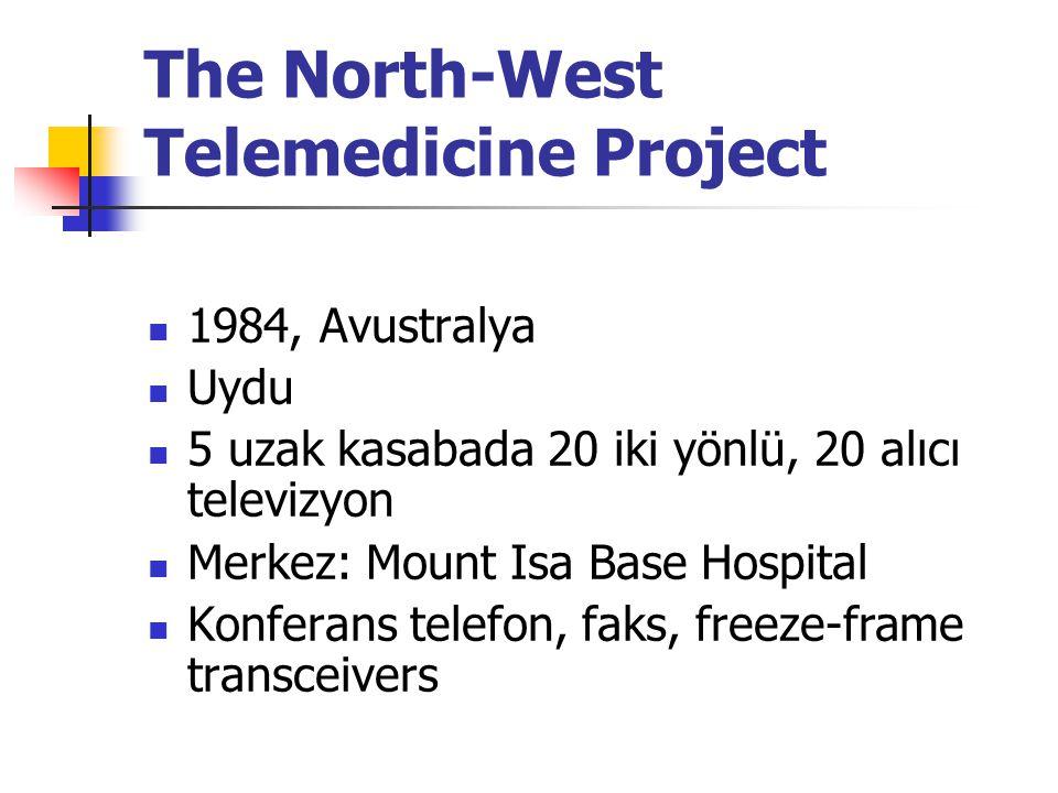 The North-West Telemedicine Project 1984, Avustralya Uydu 5 uzak kasabada 20 iki yönlü, 20 alıcı televizyon Merkez: Mount Isa Base Hospital Konferans