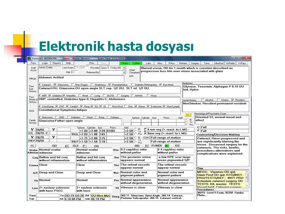 Elektronik hasta dosyası