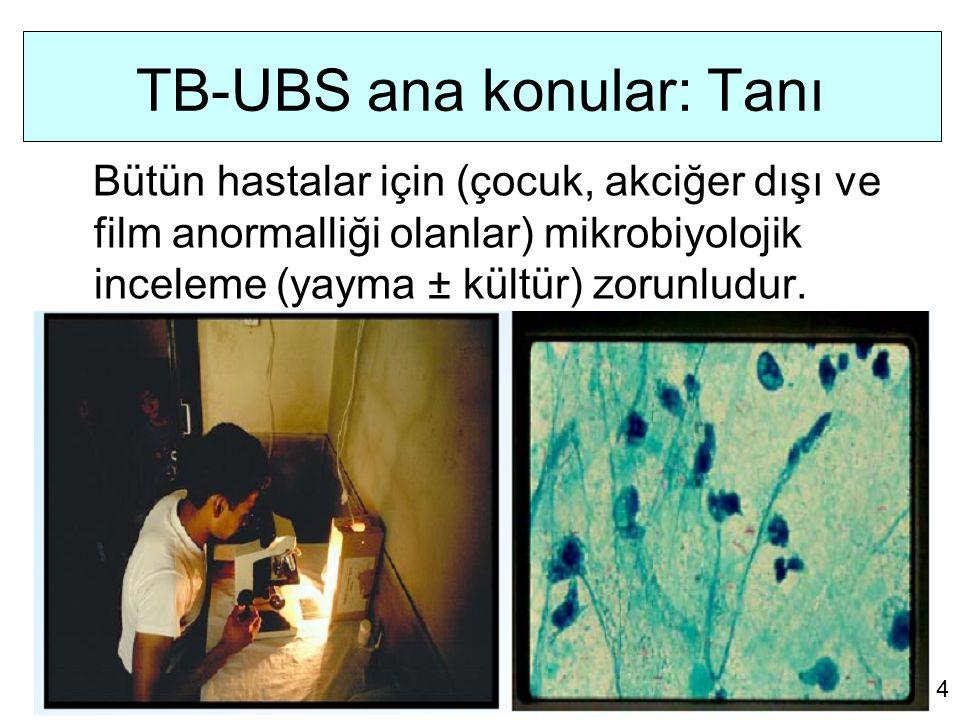 TB-UBS ana konular: Tedavi Bütün hastalar için, hasta odaklı, bireysel bir tedavi şaklaşımı geliştirilmelidir.