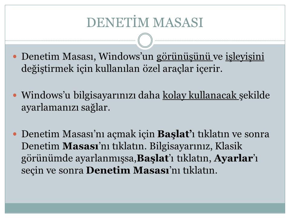 DENETİM MASASI