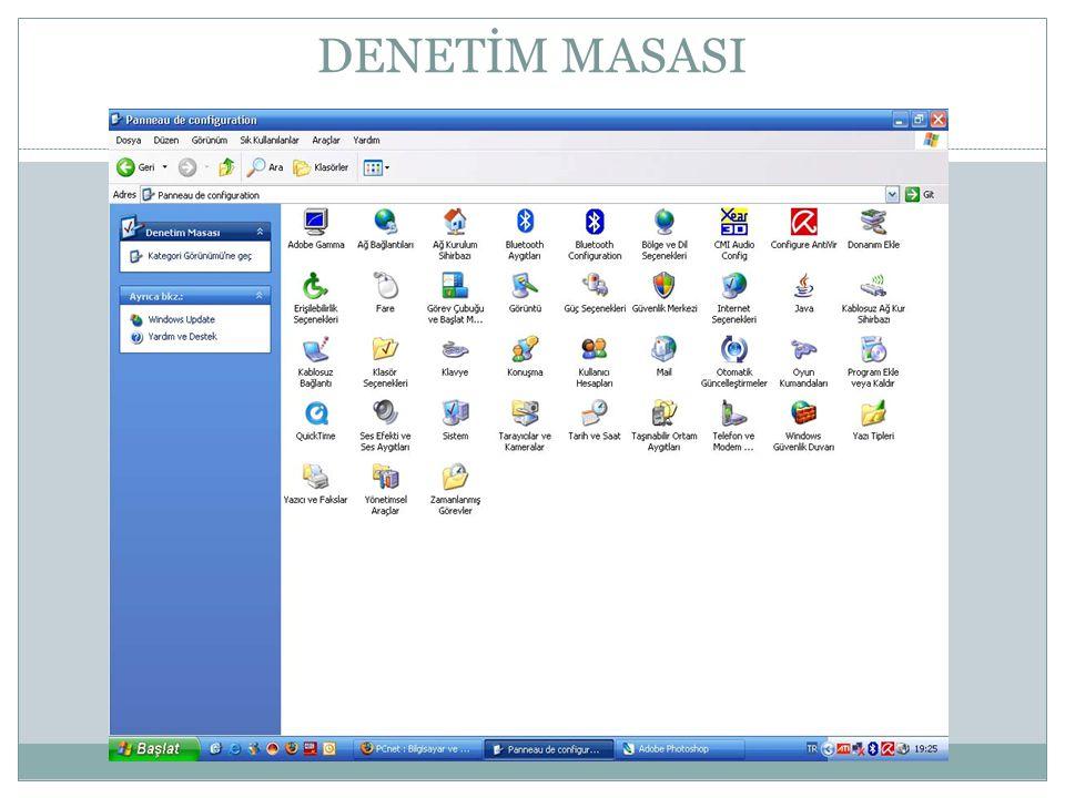AĞ BAĞLANTILARI Ağ Bağlantıları, ağdaki paylaşılan bilgisayarlara, yazıcılara ve diğer kaynaklara kısayollar içerir.