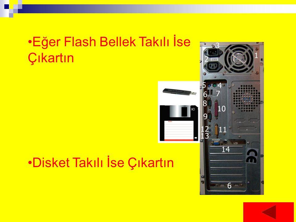 Eğer Flash Bellek Takılı İse Çıkartın Disket Takılı İse Çıkartın