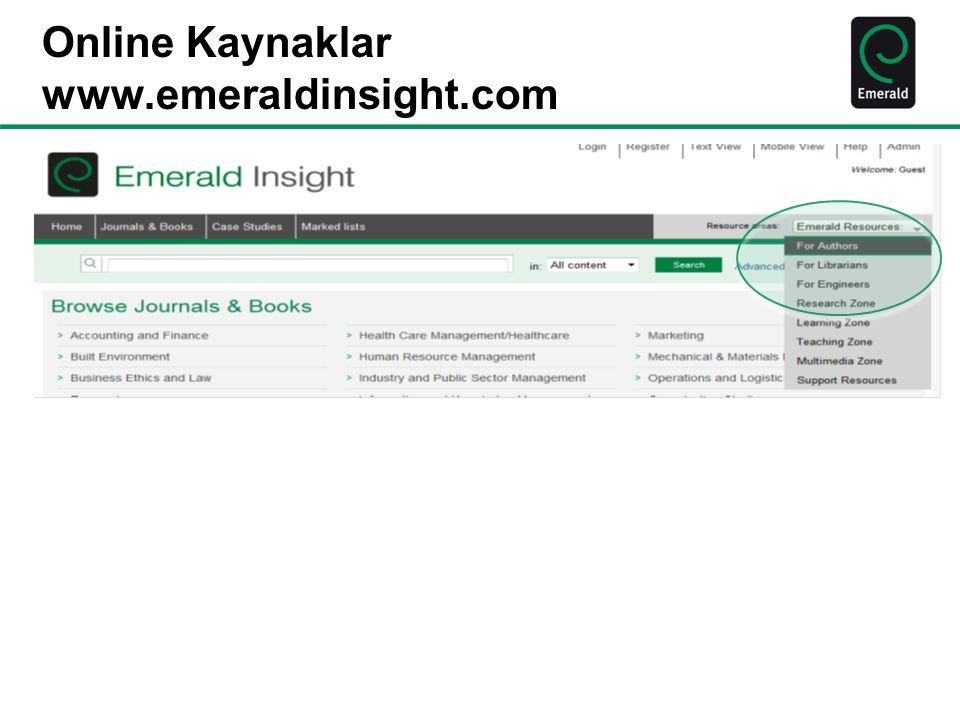 Online Kaynaklar www.emeraldinsight.com
