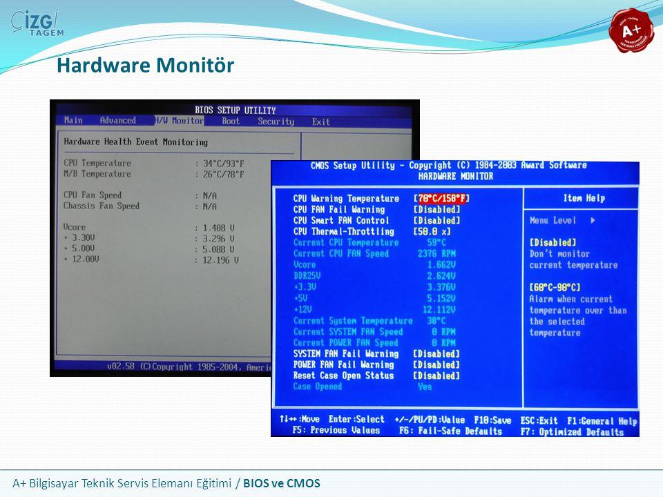 A+ Bilgisayar Teknik Servis Elemanı Eğitimi / BIOS ve CMOS Hardware Monitör