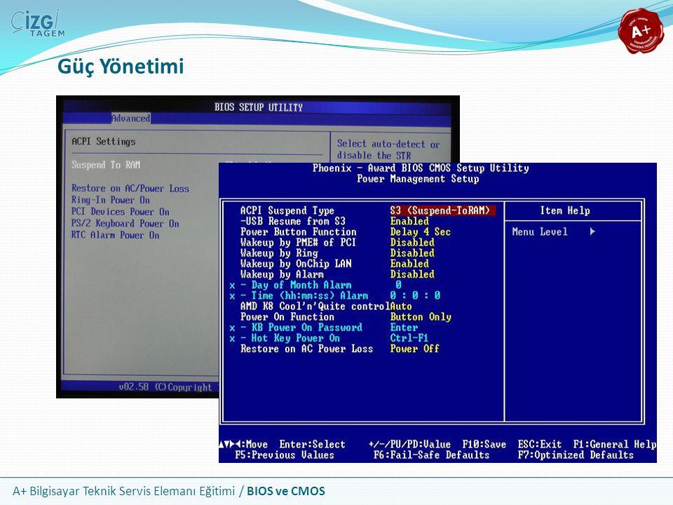 A+ Bilgisayar Teknik Servis Elemanı Eğitimi / BIOS ve CMOS Güç Yönetimi