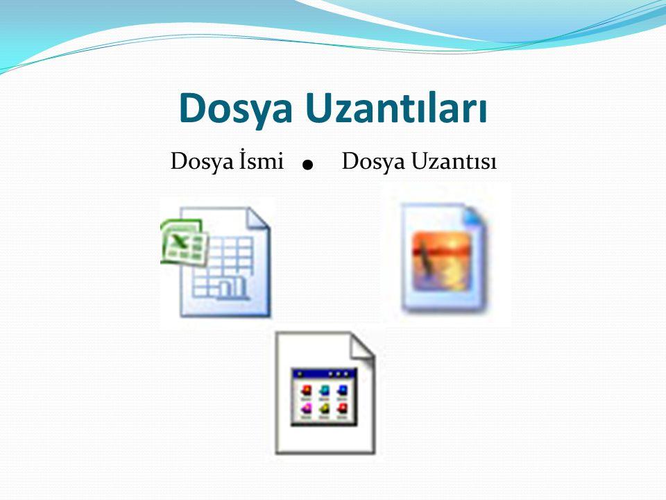 Dosya uzantılarının Çeşitleri.AVI.MPE,.MPEG,.MPG.DOC.HTM,.HTML.ICO.JPEG,.JPG,.JIF,.
