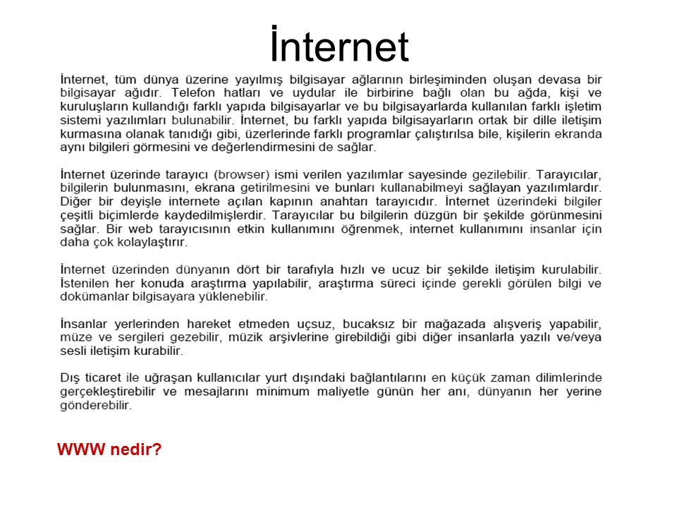 İnternet WWW nedir?