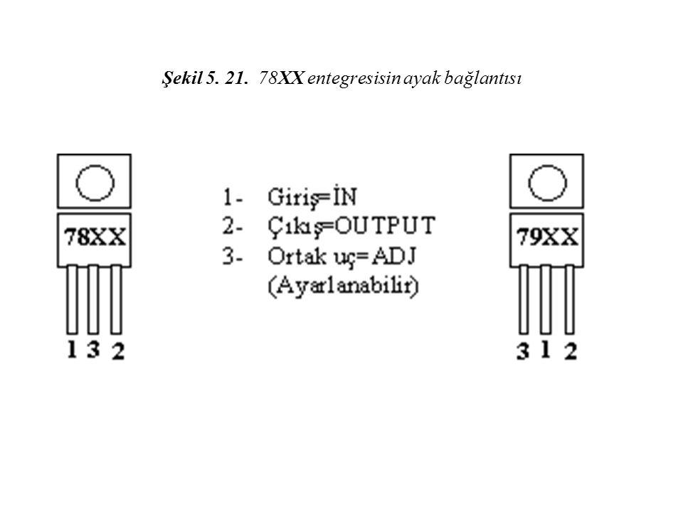 Şekil 5. 21. 78XX entegresisin ayak bağlantısı