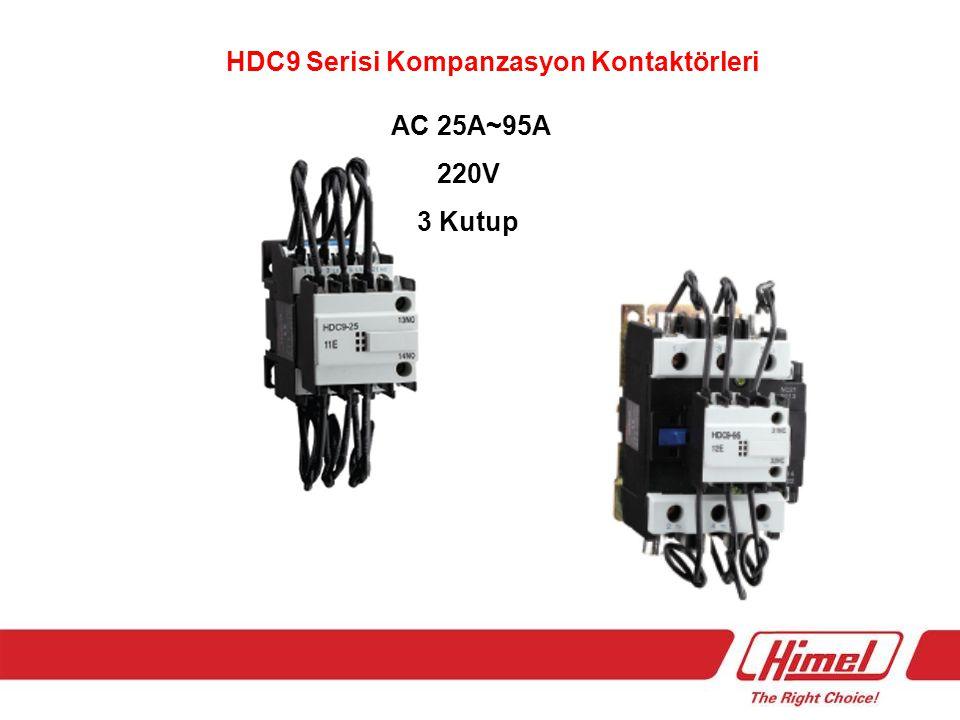 HDC9 Serisi Kompanzasyon Kontaktörleri AC 25A~95A 220V 3 Kutup