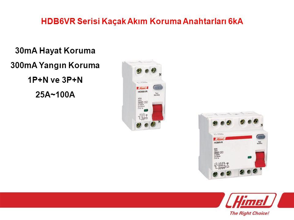 HDM6s Serisi Kompakt Tip Devre Kesiciler Termik Ayar Sahalı 0,8-1 ln 16A~630A 3Kutup 50kA ve 70kA Sabit 25A~800A 3Kutup 25kA,35kA,50kA Aksesuarları Mevcut