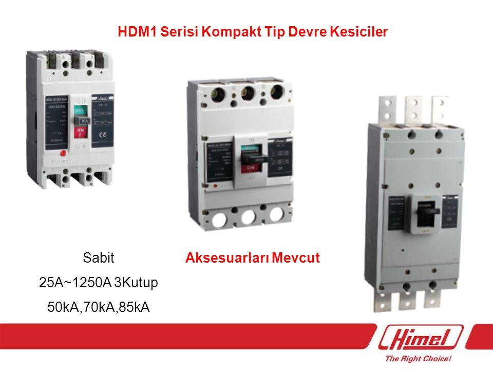 HDM1LE Serisi Kompakt Tip Yangın Korumalı Devre Kesiciler 40A~400A 3P+N 100mA,300mA,500mA ayarlanabilir 50kA Kesme Kapasiteli Aksesuarları Mevcut
