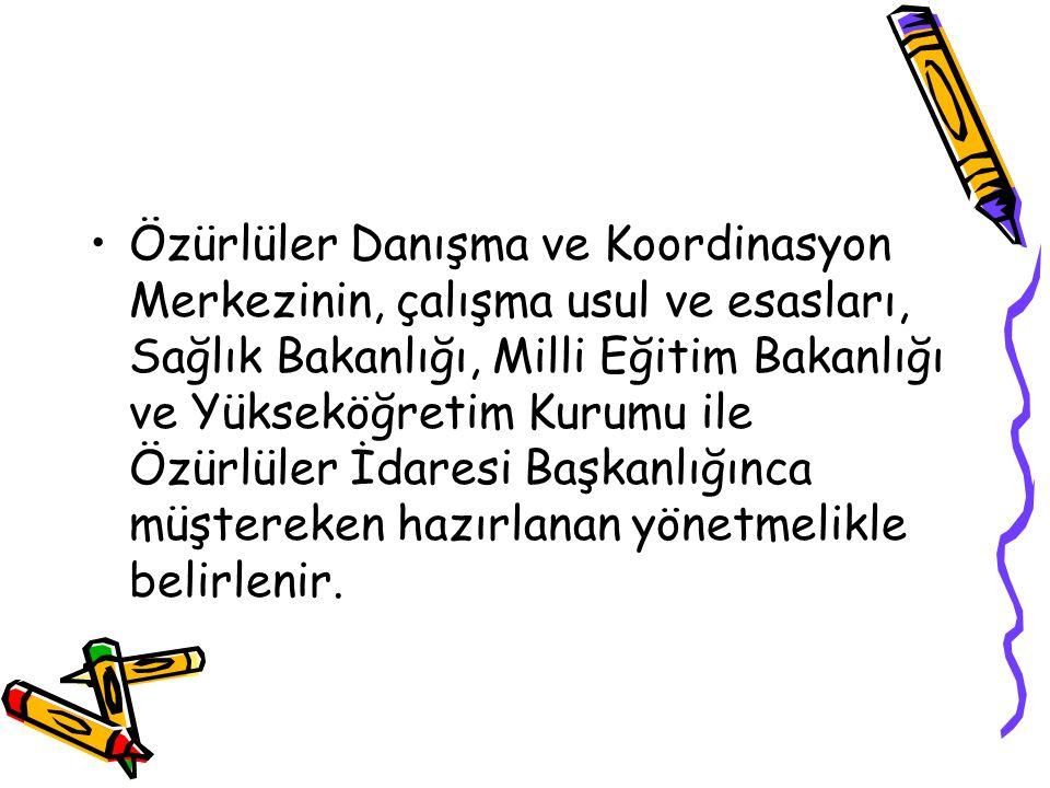 İşitme özürlülerin eğitim ve iletişimlerinin sağlanması amacıyla Türk Dil Kurumu Başkanlığı tarafından Türk işaret dili sistemi oluşturulur.