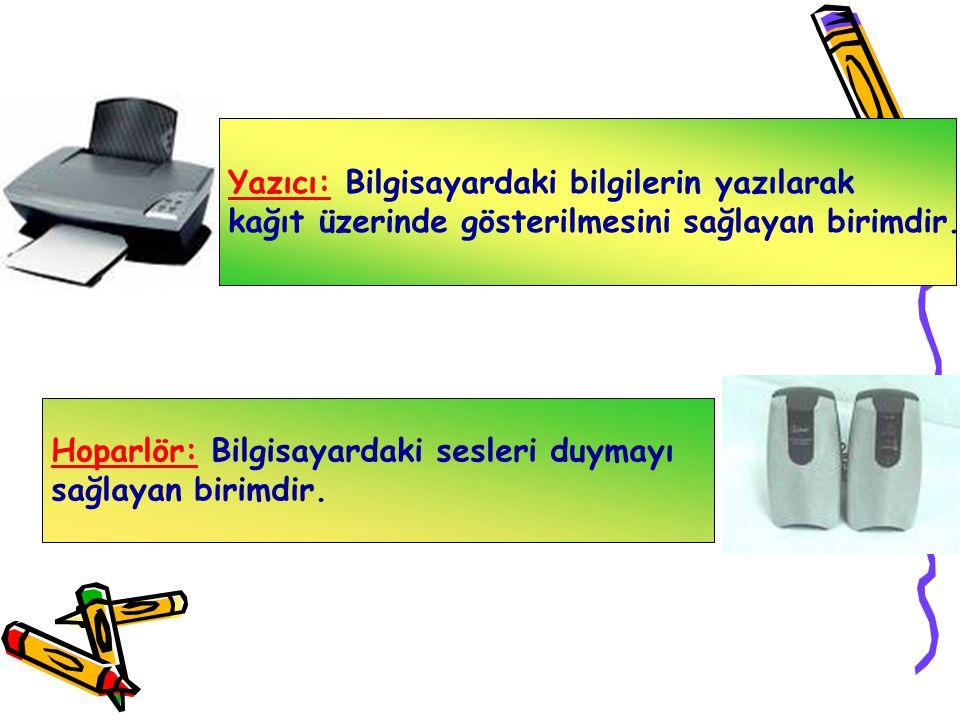 Disket: Bilgilerin saklandığı ortamdır. Disketle bilgiler bir bilgisayardan diğerine kolaylıkla taşınabilir. Kapasitesi oldukça düşüktür. CD-ROM: Bilg