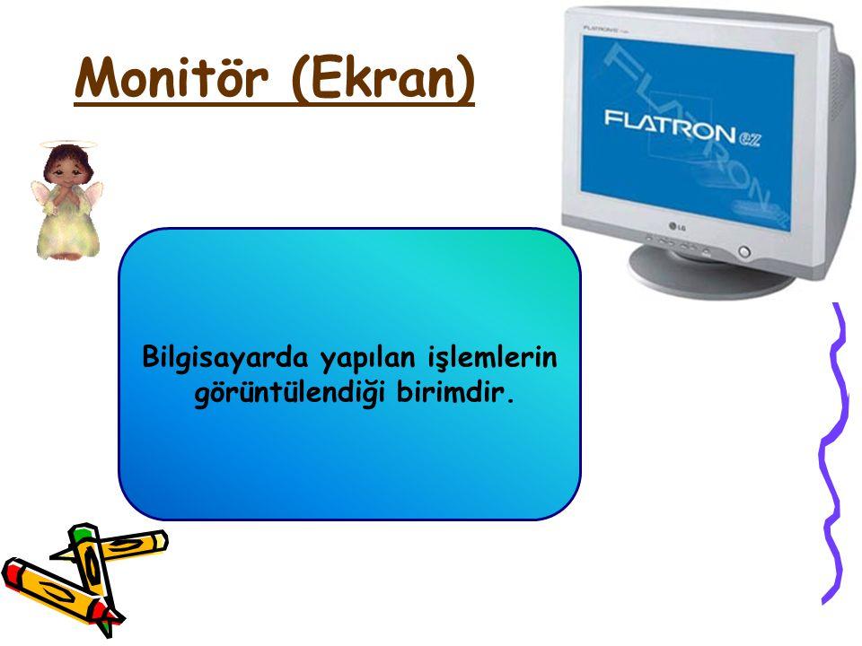Bilgisayarın Temel Parçaları Masaüstü bilgisayarları 4 temel parçadan oluşur: 1- Ekran (Monitör) 2- Sistem Birimi (Kasa ile içerisindeki parçalar) 3-
