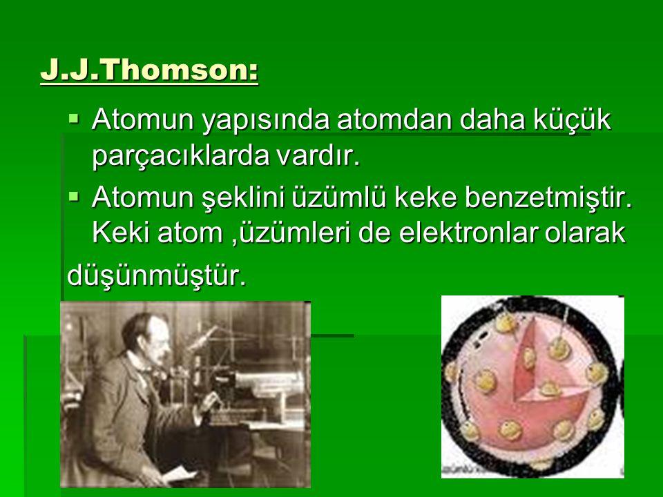 """Atomun Tarihçesi: Maddenin bölünemeyen çok küçük taneciklerden oluştuğunu MÖ 400 yılında """"Democritus"""" ileri sürmüştür..Tarih boyunca da atom konusunda"""
