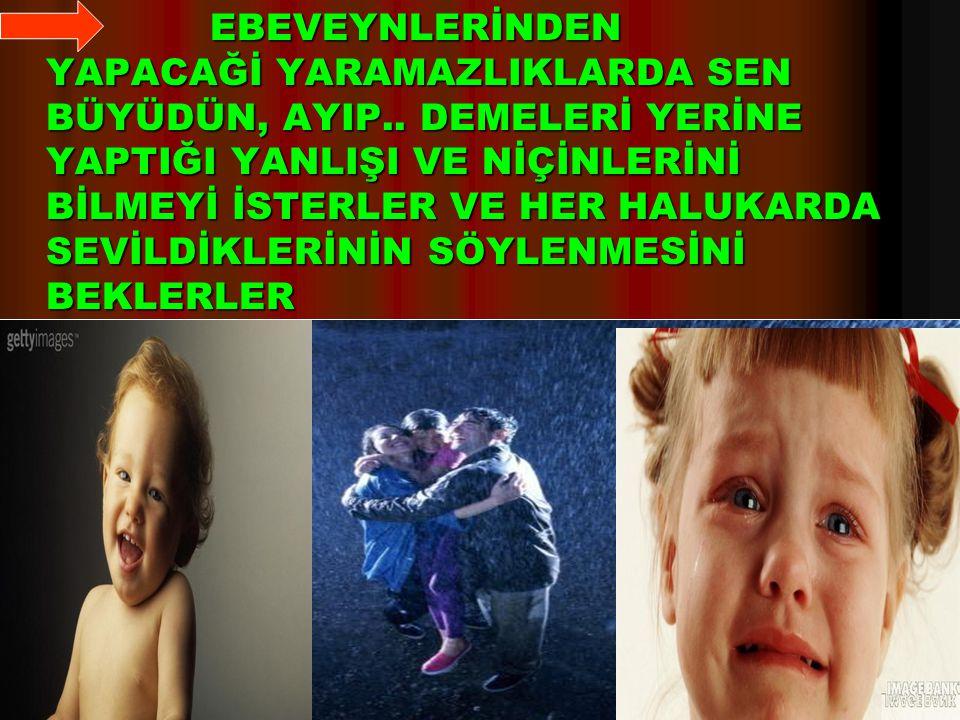 4 EBEVEYNLERİNDEN YAPACAĞİ YARAMAZLIKLARDA SEN BÜYÜDÜN, AYIP..
