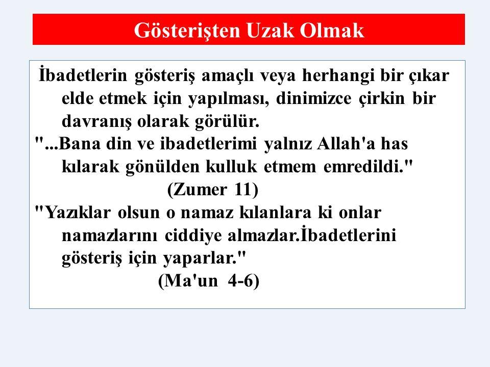 İslam'da Kolaylık Sağlanan İbadetler 1.Hasta ve yolcu olanlar ramazan orucunu erteleyebilir veya tutmayabilir.