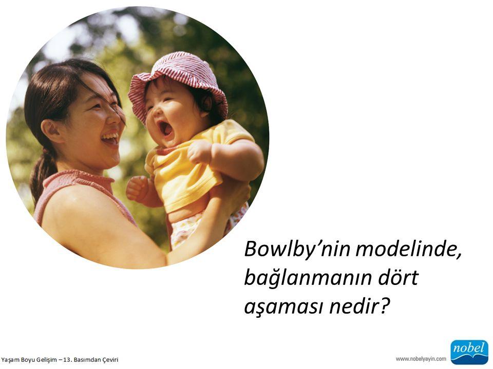 Bowlby'nin modelinde, bağlanmanın dört aşaması nedir?