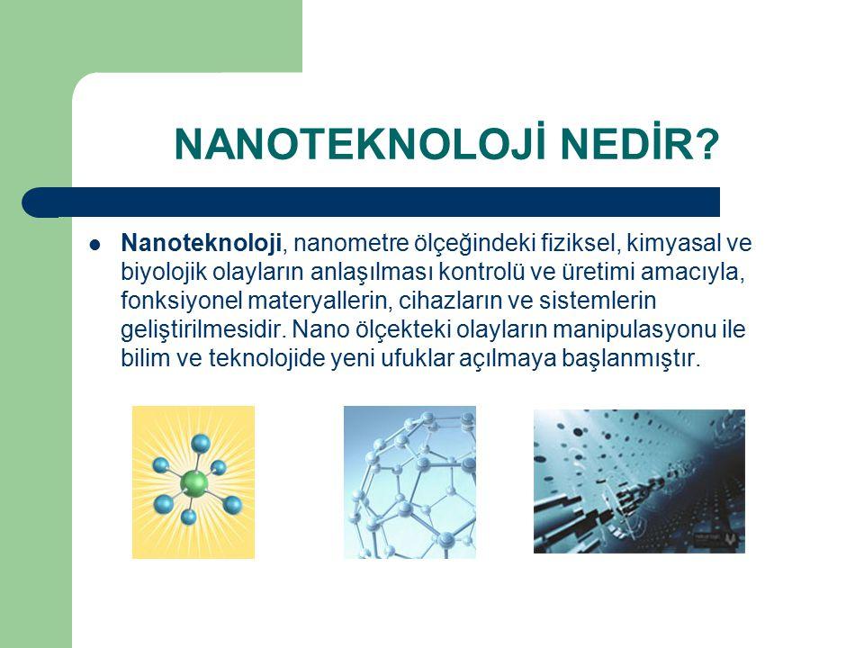 NANOTEKNOLOJİNİN TARİHİ Nanoteknoloji kavramını ilk defa dile getiren Amerika Birleşik Devletleri'nden Eric Drexler dir.