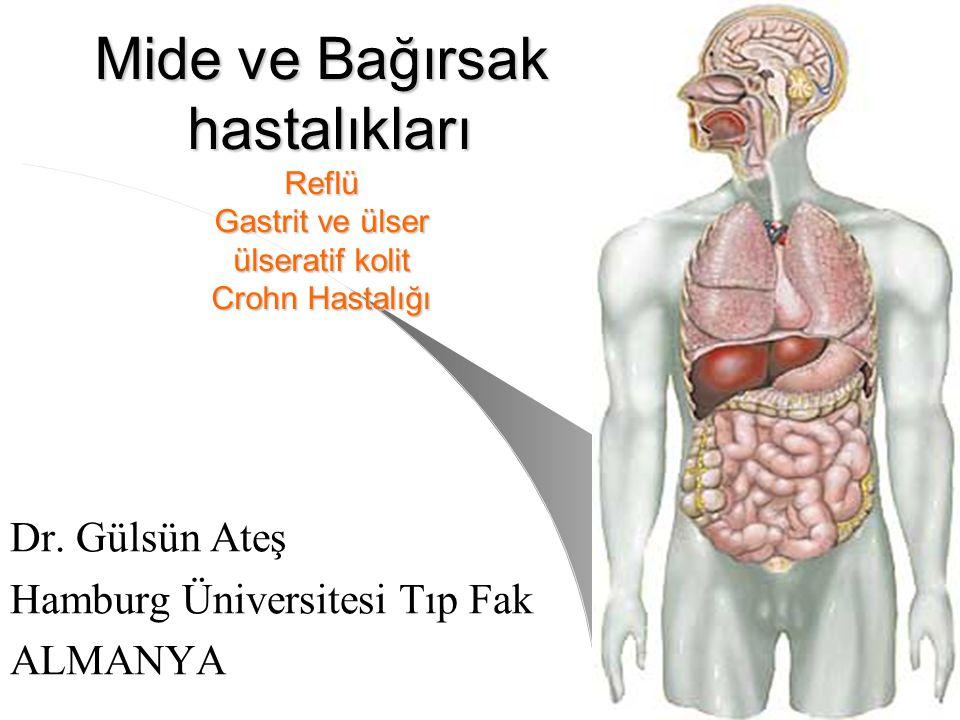Mide ve Bağırsak hastalıkları Reflü Gastrit ve ülser ülseratif kolit Crohn Hastalığı Dr. Gülsün Ateş Hamburg Üniversitesi Tıp Fak ALMANYA