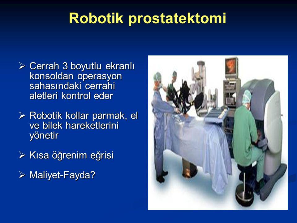  Cerrah 3 boyutlu ekranlı konsoldan operasyon sahasındaki cerrahi aletleri kontrol eder  Robotik kollar parmak, el ve bilek hareketlerini yönetir 