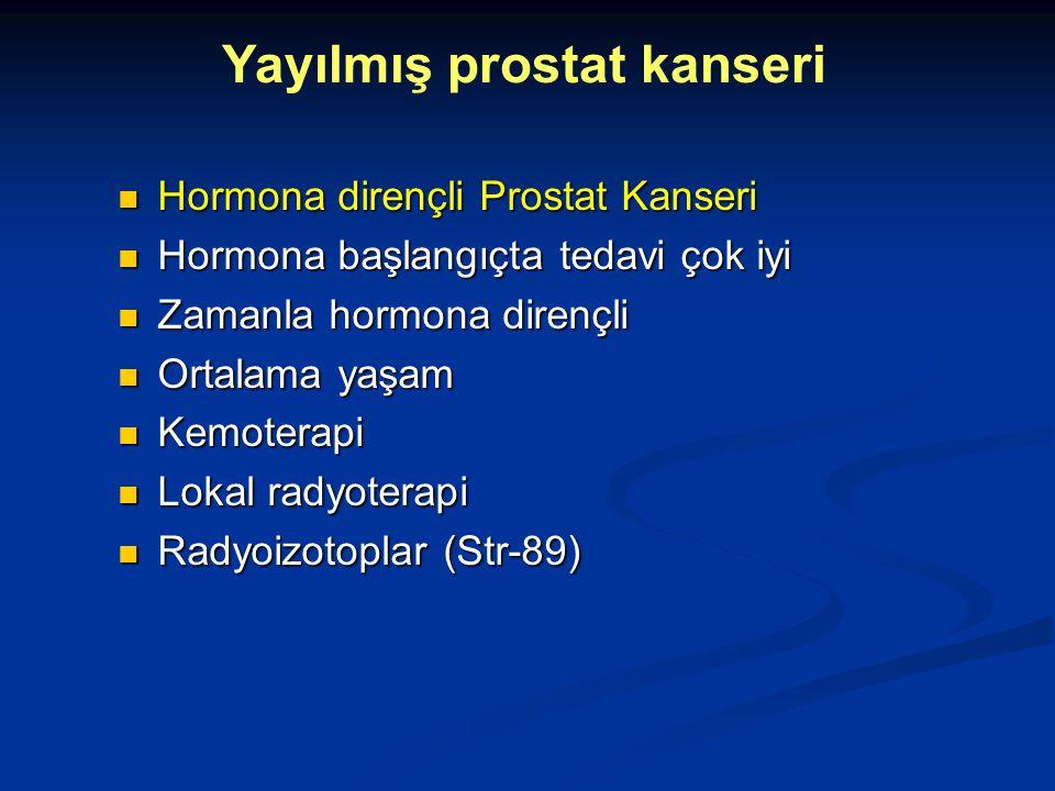 Hormona dirençli Prostat Kanseri Hormona dirençli Prostat Kanseri Hormona başlangıçta tedavi çok iyi Hormona başlangıçta tedavi çok iyi Zamanla hormon