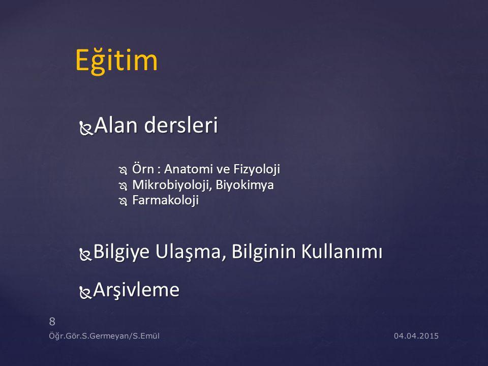 04.04.2015 39 Öğr.Gör.S.Germeyan/S.Emül