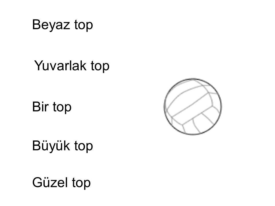 Beyaz top Yuvarlak top Bir top Büyük top Güzel top