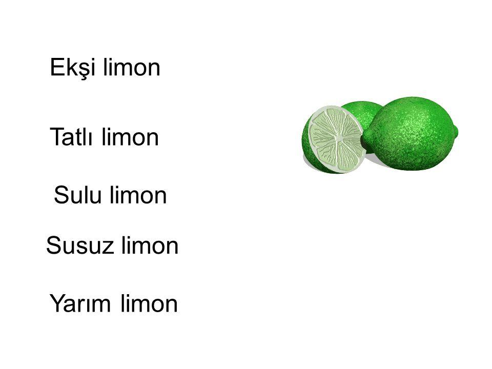 Ekşi limon Tatlı limon Sulu limon Susuz limon Yarım limon