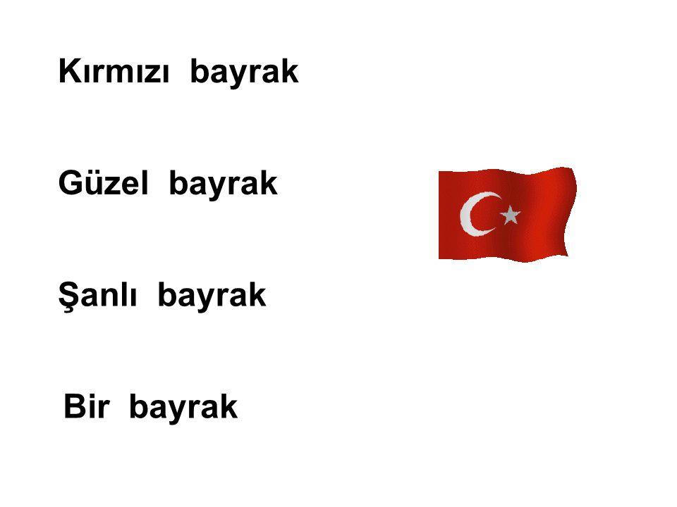 Kırmızı bayrak Güzel bayrak Şanlı bayrak Bir bayrak
