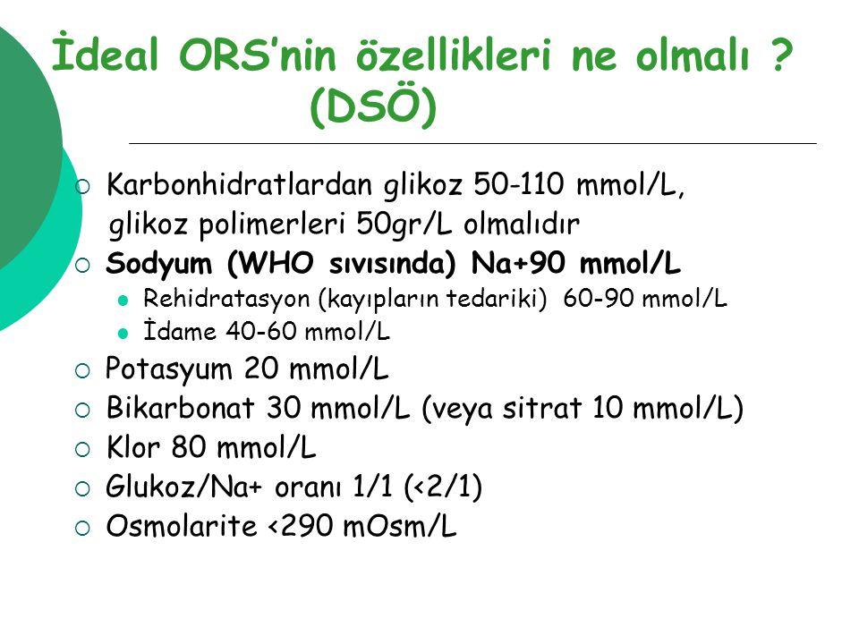 İdeal ORS'nin özellikleri ne olmalı .