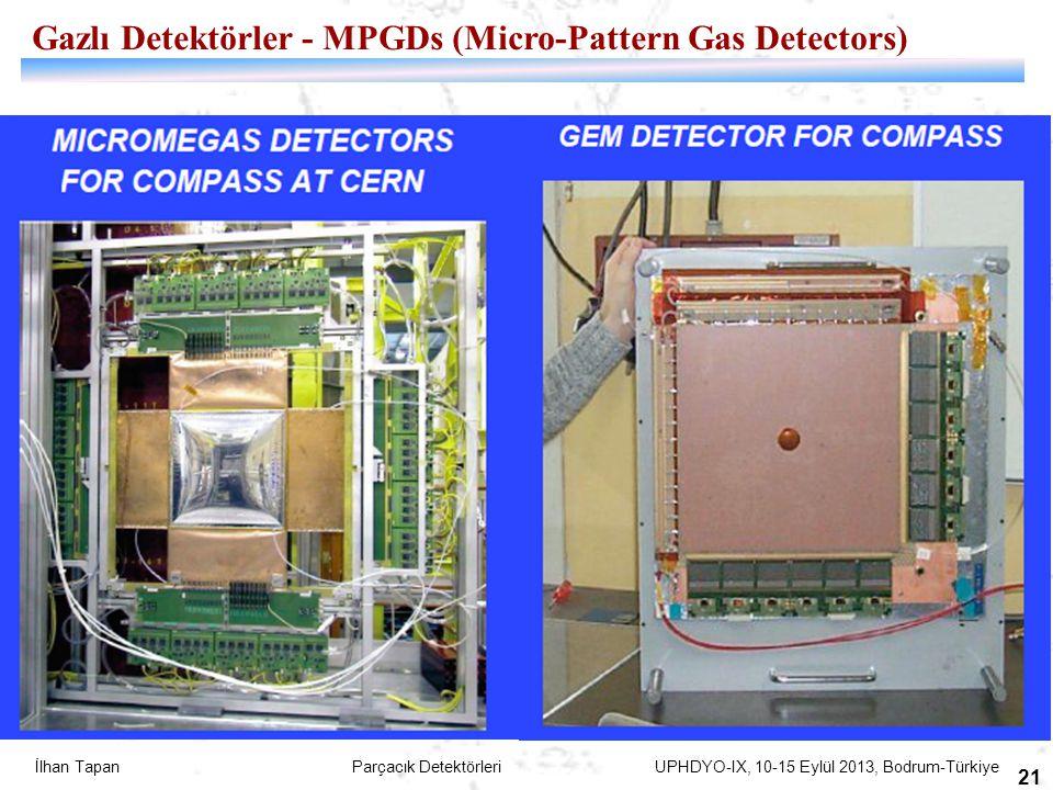 İlhan Tapan Parçacık Detektörleri UPHDYO-IX, 10-15 Eylül 2013, Bodrum-Türkiye 21 Gazlı Detektörler - MPGDs (Micro-Pattern Gas Detectors)