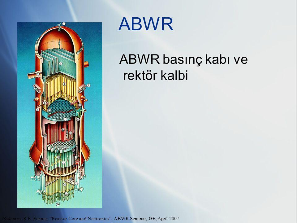 ABWR ABWR basınç kabı ve rektör kalbi Referans: R.E.
