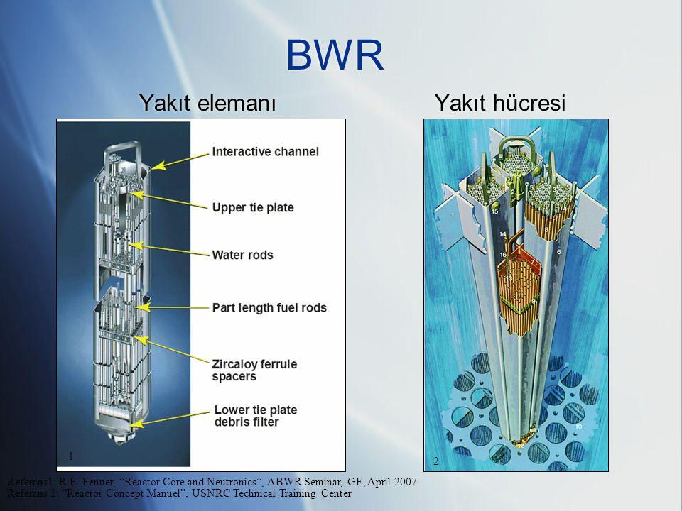 BWR Yakıt elemanı Yakıt hücresi Referans1: R.E.
